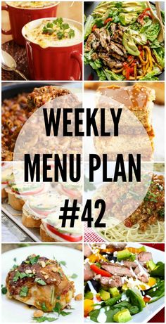 Weekly Menu Plan #42 | The Girl Who Ate Everything | Bloglovin'
