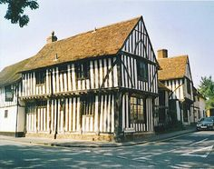 The Old Wool Hall in Lavenham - Suffolk Timber Buildings, Travel Memories, Places Ive Been, Britain, Old Things, England, Cabin, House Styles, City