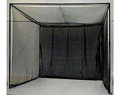 Golf Practice Net 10' X 10' X 10' Swing Practice Netting With Back Baffle