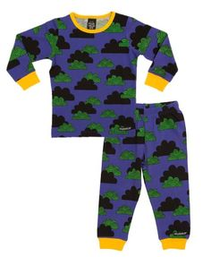 Villervalla unisex dark blue cloud print kids pyjamas                         – Love It Love It Love It