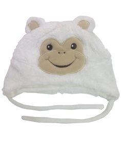 Monkey Patch White Fur Cap