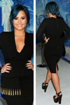 Demi at the frozen premiere!