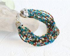 Bracelet Beaded in Multi Colored Seed Beads #BestofEtsy #