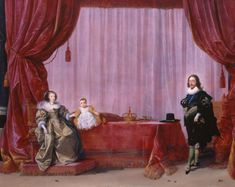 Hendrick Pot (Haarlem c.1585-Amsterdam 1657) Charles I, Henrietta Maria and Charles, Prince of Wales (later Charles II)  c. 1632 Oil on panel Royal Collection Trust © Her Majesty Queen Elizabeth