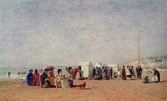 Sur la plage de Trouville, huile sur toile, 29 x 48 cm, 1865. Minneapolis Institute of arts, Minneapolis, Minnesota, USA