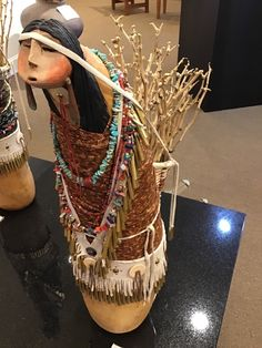 Native Indian, Gourds, Native American, Basket, Culture, Lady, Hair Styles, Roots, How To Make