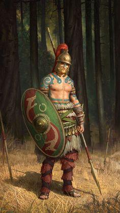 Celtic warrior from the 1st Century BCE by Roman Zawadzki on ArtStation