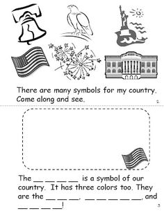 U.s. symbols writing activities first grade level