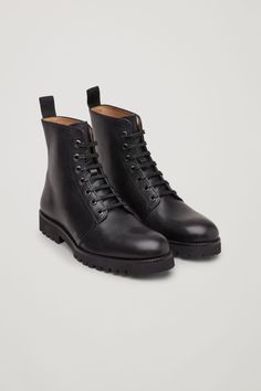 21ea923af97 Made from smooth leather with a chunky rubber sole