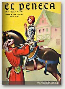 """""""El Peneca"""" fue una publicación exitosa, que logró mantener un alto nivel artístico y literario Mario Silva, Baseball Cards, Movie Posters, Movies, Posters, Presidents, Dads, Retro Pattern, Old Magazines"""