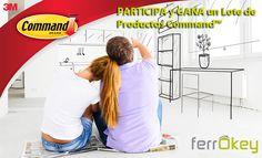 Participa en el Sorteo para GANAR un Lote de productos Command para tu oficina, hogar y baño ¡Cuelga en cualquier superficie sin dañarla!?