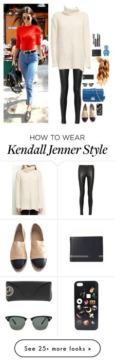 """""""A-shopping in Canada with Kendall"""" by onedirectionnhllz on Polyvore featuring Balenciaga, Christian Dior, Chanel, Hershesons, Ray-Ban, Marc Jacobs and Bobbi Brown Cosmetics"""