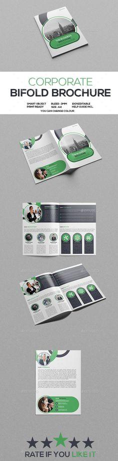 Corporate Bifold Brochure Template PSD