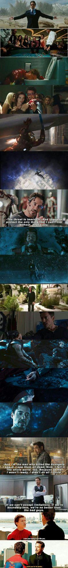 Tony Stark's character development - 9GAG