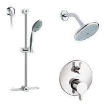 Buy the Hansgrohe Brushed Nickel Direct. Shop for the Hansgrohe Brushed Nickel E Series Pressure Balanced Shower System with Multi-Function Shower Head, Hand Shower, Slide Bar and Valve Trim, Rough-In Included and save. Shower Valve, Shower Faucet, Shower Fixtures, Slide Bar, Shower Arm, Shower Systems, Noise Reduction, Shower Heads, Chrome