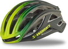 Specialized S-Works Prevail Ii Helmet Matte Black/Hyper Green Fade Small Cycling Helmet, Cycling Bikes, Cycling Outfit, Bicycle Helmet, Bike Helmets, Cheap Road Bikes, Bike Shoes, Road Bike Women, Electric Bicycle
