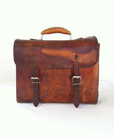 Vintage leather tool bag