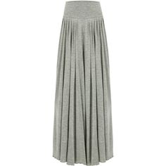 Yoins Gray Wide Cut Leg Trousers (£18) ❤ liked on Polyvore featuring pants, skirts, bottoms, grey and yoins