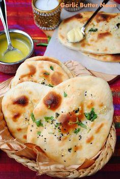 Butter Garlic Naan... Naan bread is so yummy !