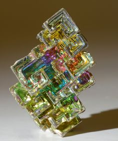 I don't do lab grown but . Bismuth Laboratory Grown Crystal Size: Crystal is inches tall. Minerals And Gemstones, Rocks And Minerals, Instalation Art, Crystal Magic, Mineral Stone, Beautiful Rocks, Rocks And Gems, Healing Stones, Stones And Crystals