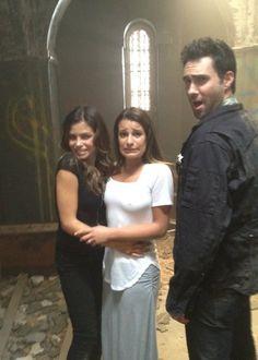 Jenna Dewan Tatum - Lea Michelle & Adam Levine on set American Horror Story Asylum