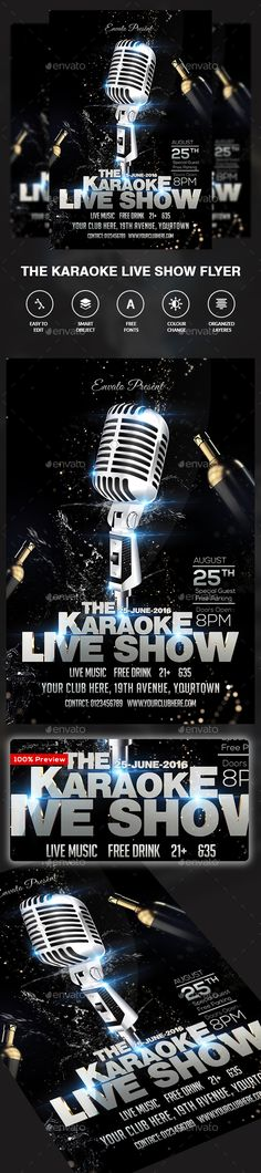 Karaoke Party Poster Template  Karaoke Party Party Poster And