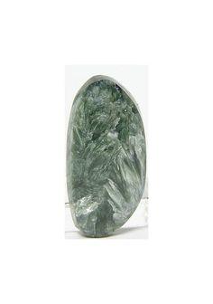 Seraphinite Clinochlore Rare Stone Cabochon 18.5 by FenderMinerals,