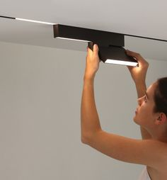 Online is a unique minimalist lighting system designed by Bart Lens for Eden Design. The simplicity of the light fixture's design makes that it can be used