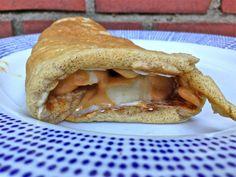 Peanut Butter and fluff protein pancakes.  A fluffernutter for big kids!
