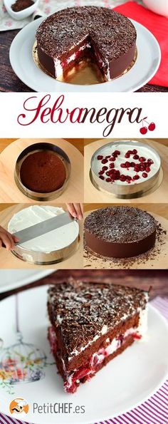 Black forest cake, step by step, Recipe Petitchef Food Cakes, Cupcake Cakes, Cupcakes, Sweet Recipes, Cake Recipes, Dessert Recipes, Forest Cake, Crazy Cakes, Cakes And More