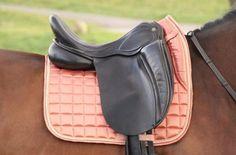 Peach pink saddle pad,  saddle pad peach, dressage saddle pad horse, glossy peach pink pad (NOTE wit