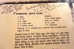 If I remember correctly, my mom discovered this recipe and added it to her Pesach repertoire sometime in the early 80s. It is absolutely excellent, and does not taste like a Pesach recipe. It is 'g...