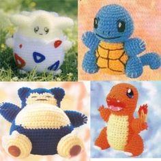 pokemon crochet patterns | Amigurumi Pokemon Charmander and snorlax crochet pattern | Shop ...