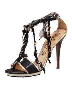 Chain & Fringe T-Strap Sandal by Lanvin at Bergdorf Goodman.