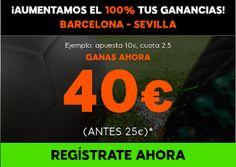 el forero jrvm y todos los bonos de deportes: 888sport aumento 100% beneficios Barcelona vs Sevi...