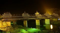 built in 1916 - no nails were ever used in their construction-chengyang-bridge-Hunan-China