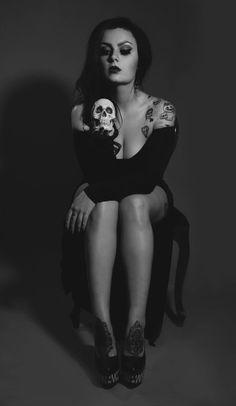 Our Tattoo Model of the week Mynxie Monroe http://tattoopics.org/mynxie-monroe-skull-photo-by-ayesha-h/ #MynxieMonroe #inkedgirls #GirlswithTattoos #models