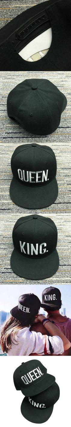 BONJEAN KING QUEEN Embroidered Snapback women Caps for Lovers Men Women Baseball Cap Black Hip Hop Cap hats chapeau masculino