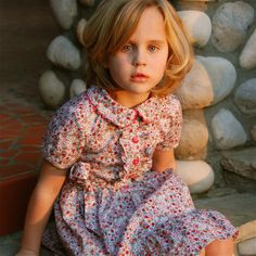 girls collar dress  girls Easter dress  Floral by SchoolHouseFrock, $65.00