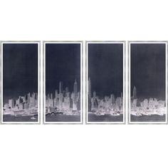 Lower Manhattan Skyline Negative by Thom Filicia for Soicher-Marin