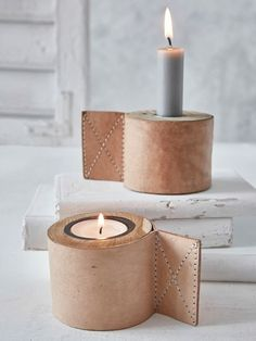 DIY Inspiration | Leather Candle Holders
