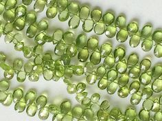 Peridot Beads Natural Peridot Faceted Pear by gemsforjewels