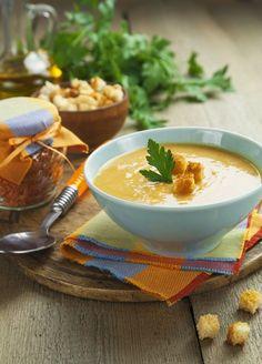 veloute me portokali faki anoigma Veggie Soup, Lentil Soup, Greek Recipes, Food Art, Healthy Living, Recipies, Good Food, Food And Drink, Veggies