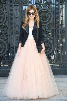 Une jolie robe en tulle