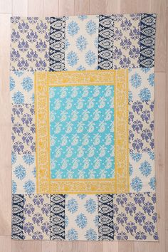 Provencal Block Print Handmade Rug