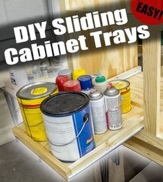 Learn how to build super easy slide-out trays for your cabinets.