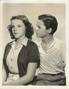 "JUDY GARLAND & FREDDIE BARTHOLOMEW in ""Listen Darling"" Original Vint. Photo 1938."