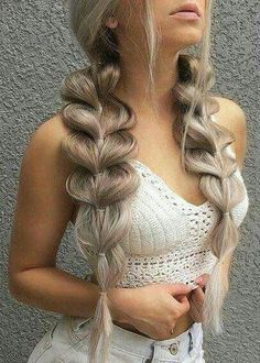 40 Trendy Braided Hairstyles For Long Hair To Look Amazingly Awesome; long weddi… 40 Trendy Braided Hairstyles For Long Hair To Look Amazingly Awesome;Beautiful prom hairstyles long hairstyles for teens. Teen Hairstyles, Wedding Hairstyles For Long Hair, Box Braids Hairstyles, Braids For Long Hair, Hairstyles 2018, Pretty Hairstyles, Big Braids, Hairstyle Ideas, Braided Hairstyles For Teens
