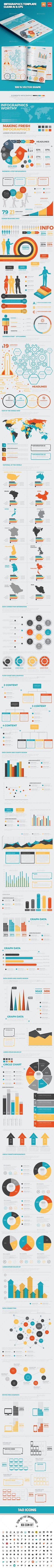 Infographics Template Design — EPS Template #modern #illustrator • Download ➝ https://graphicriver.net/item/infographics-template-design/18473496?ref=pxcr