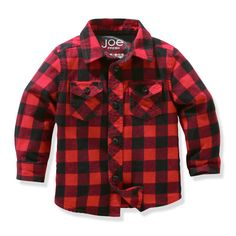 Just like Dad's--baby boys' flannel shirt.